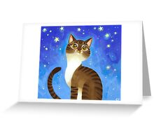 Star Kitty Greeting Card