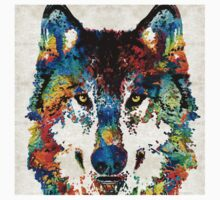 Wolf Art Print - Hungry - By Sharon Cummings Kids Tee
