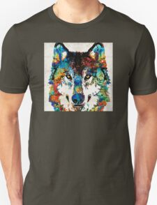 Wolf Art Print - Hungry - By Sharon Cummings Unisex T-Shirt