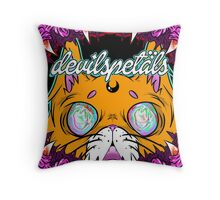 devilspetals - Cover Meow Throw Pillow