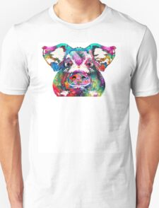 Colorful Pig Art - Squeal Appeal - By Sharon Cummings Unisex T-Shirt