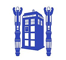 Tardis & Sonic Screwdrivers Photographic Print