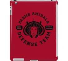 Padme Amidala Defense Team (black text) iPad Case/Skin
