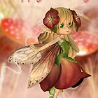 Strawberry And Cream - Birthday Card With Fairy by Moonlake