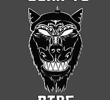 Biker Wolf Born to Ride by VJCoon
