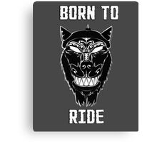 Biker Wolf Born to Ride Canvas Print