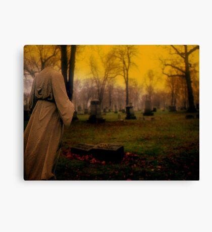A cemetery in Michigan Canvas Print