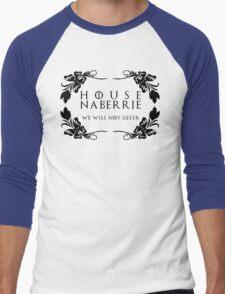 House Naberrie (black text) Men's Baseball ¾ T-Shirt