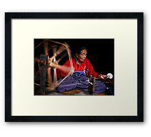 Spinning Cotton Framed Print