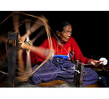Spinning Cotton Photographic Print