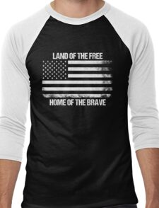 Land Of The Free, Home Of The Brave Men's Baseball ¾ T-Shirt