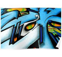 Abstract of street art Poster