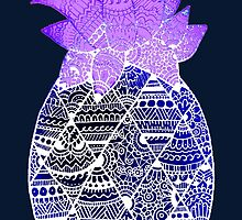 Pineapple: Purple/Blue/White by MRLdesigns