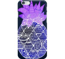 Pineapple: Purple/Blue/White iPhone Case/Skin