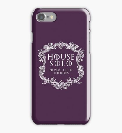 House Solo (white text) iPhone Case/Skin