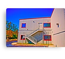 Metal Building Canvas Print