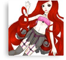 Red Haired Beauty Canvas Print