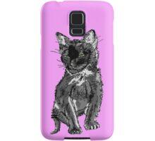 Saphira the cat Pixel sketch Samsung Galaxy Case/Skin
