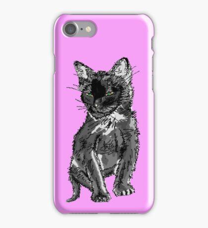 Saphira the cat Pixel sketch iPhone Case/Skin