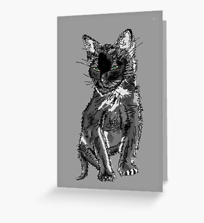 Saphira the cat Pixel sketch Greeting Card