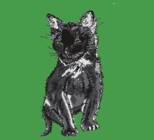 Saphira the cat Pixel sketch Kids Tee