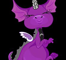 The Asexuality Blog - Unidragon Mascot Logo by AsexualityBlog