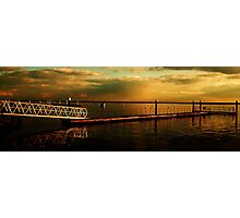 Dark Sunset Clouds over The River Crouch Photographic Print