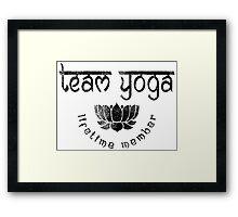Vintage Team Yoga Lifetime Member design Framed Print