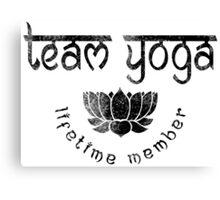 Vintage Team Yoga Lifetime Member design Canvas Print