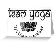 Vintage Team Yoga Lifetime Member design Greeting Card