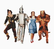 Scarecrow, Tin Man, Dorothy, and the Cowardly Lion Kids Tee