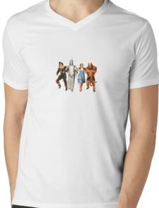 Scarecrow, Tin Man, Dorothy, and the Cowardly Lion Mens V-Neck T-Shirt