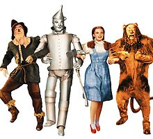 Scarecrow, Tin Man, Dorothy, and the Cowardly Lion by malcolm-
