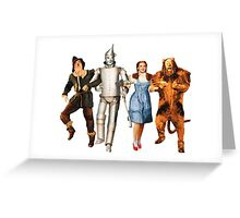 Scarecrow, Tin Man, Dorothy, and the Cowardly Lion Greeting Card
