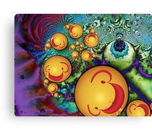 Goofy Smileys Canvas Print