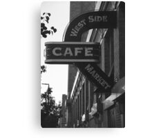 Cafe in Black and White Canvas Print