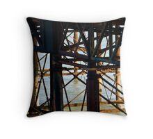Brighton Pier, the flip side. Throw Pillow