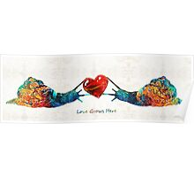 Snail Art - Love Grows Here - By Sharon Cummings Poster