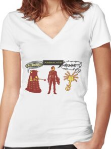 Exterminate, Assimilate, Inseminate! Women's Fitted V-Neck T-Shirt