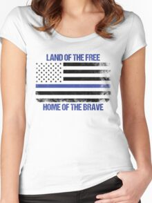 Land Of The Free, Home Of The Brave Women's Fitted Scoop T-Shirt