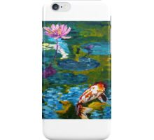 Tranquil Koi Lily Pond iPhone Case/Skin