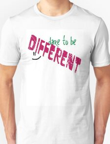 """Dare to be Different"" Slogan T-Shirt"