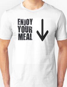 """Enjoy your meal"", Slogan T-Shirt"