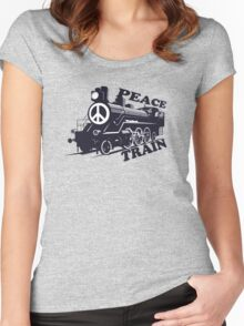 Cat Stevens - Peace Train is coming Women's Fitted Scoop T-Shirt