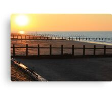 sunset over the Irish sea Canvas Print