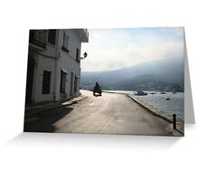 Man on a moped Greeting Card