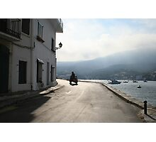 Man on a moped Photographic Print