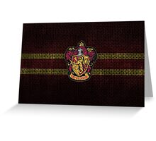 Gryffindor Knitted Greeting Card