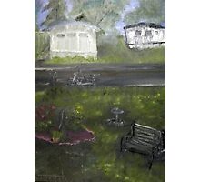 My Backyard - En plein air  Photographic Print