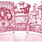 Fun land amusement park by Mike Cressy
